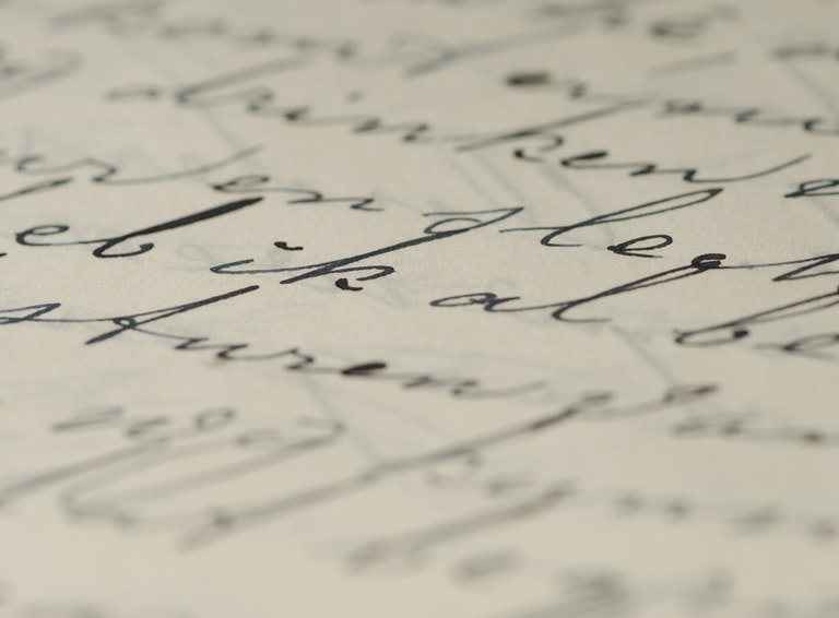 Handwriting letter