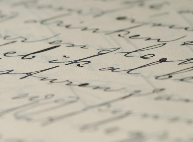 Handwriting letter
