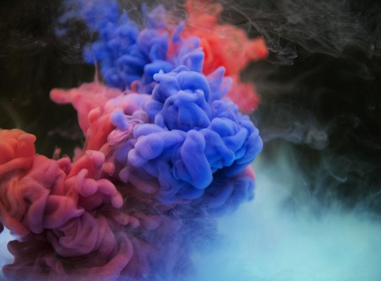Mulitcolored smoke